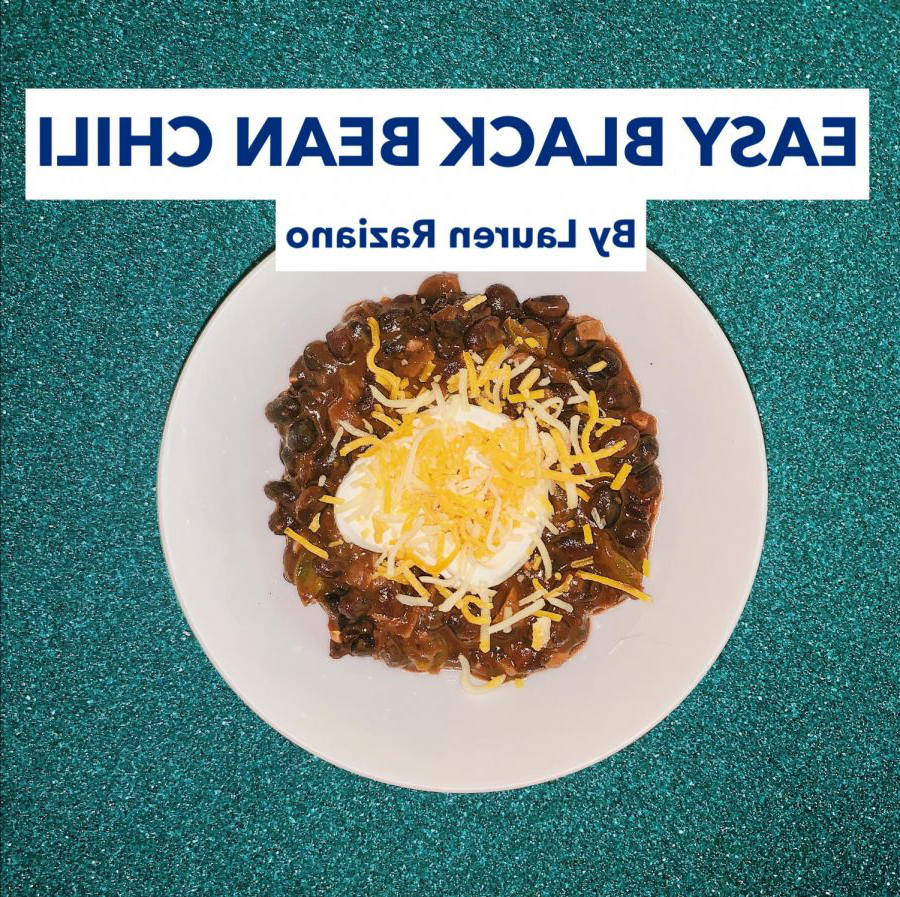 Easy+Black+Bean+Chili+garnished+with+Sour+Cream+and+Mexican+Cheese+